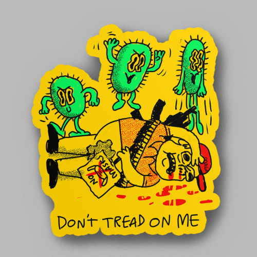 don't tread on me sticker - product image